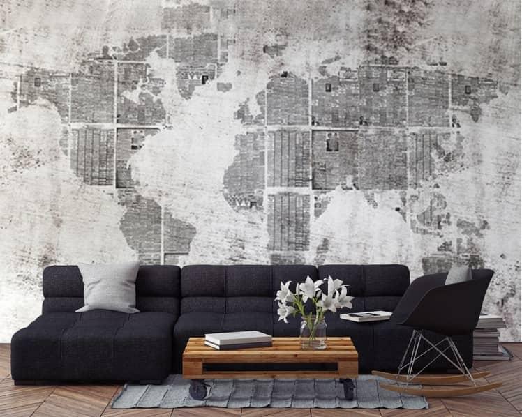 Fototapeta nowoczesna mapa świata